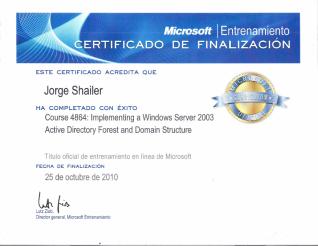 Microsoft course 4864
